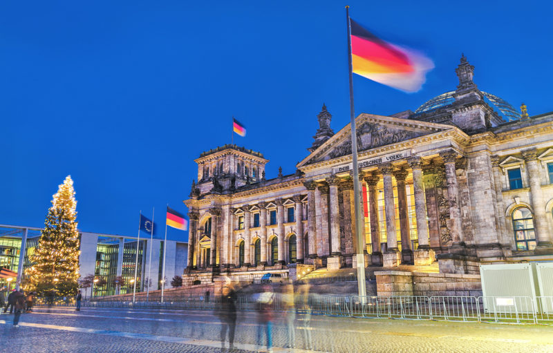 Bundestag - the Government main building in the capital of Germany - Berlin